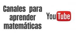 Canales de profesores para aprender matemáticas en YouTube
