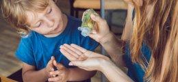 Desinfectante de manos para niños