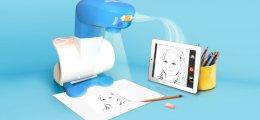 Un proyector inteligente enseña a los pequeños artistas a dibujar